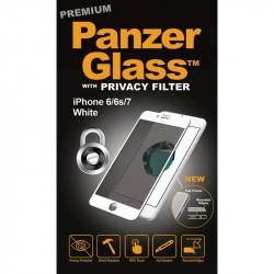PanzerGlass iPhone 8/7/6S/6 Privacy sklo ochranné čierna