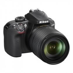 NIKON D3400 + 18-105mm VR Black fotoap. digit.