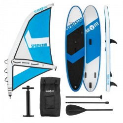 KLARFIT Spreestar WM paddleboard nafukovací SUP 325 sada modro-biela veľkosť M