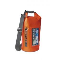 """CELLY Explorer 5L vak vodotesný s vreckom na telefón do 6,2 """", oranžový"""