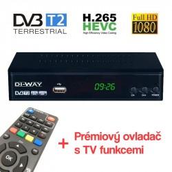 DI-WAY PRO-2020 HEVC H.265 prijímač DVB-T2
