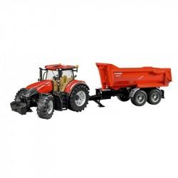 BRUDER Case IH Optum 300 CVX traktor s vlečkou