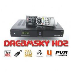 DREAMSKY HD2 + (plus) LAN prijímač satelitný