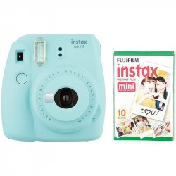 FUJIFILM INSTAX MINI 9 + film 10 Ice Blue 70100141214